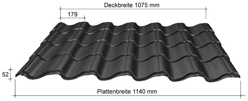 Bevorzugt Roof 52 Lagerware für Dach und Fassade • Dachziegelprofile NA94